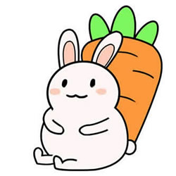 How to Draw a Cute Fat Rabbit Step by Step for Kids