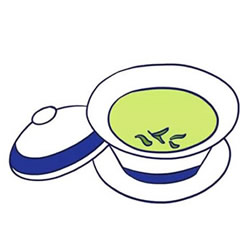 How to Draw a Cup of Chinese Green Tea Step by Step