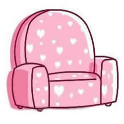 How to Draw a Pink Single Sofa Step by Step for Kids