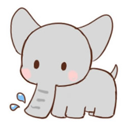 How to Draw a Baby Elephant Spraying Water Step by Step for Kid