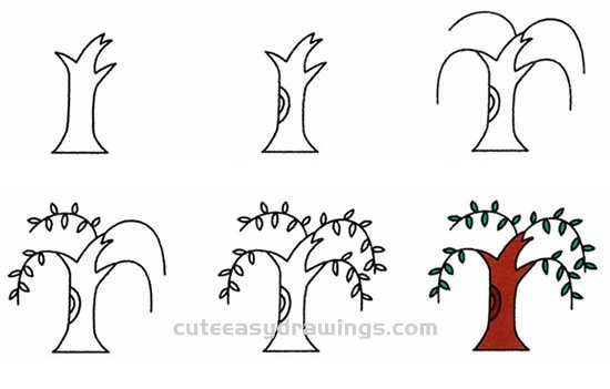 How to Draw a Willow Tree Step by Step for Kids