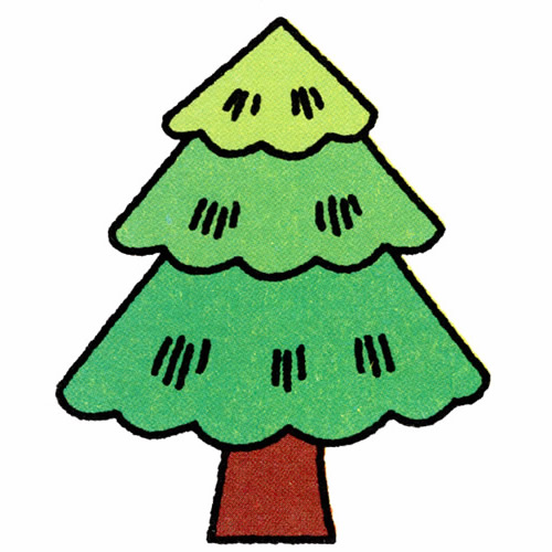 How to Draw a Colorful Pine Tree Step by Step for Kids