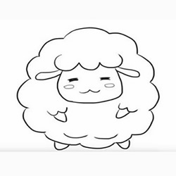 How to Draw a Cute Cartoon Sheep Step by Step for Kids