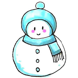 How to Draw a Snowman Wearing Hat and Scarf Step by Step for Kids