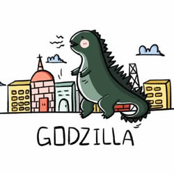 How to Draw Godzilla in the City Step by Step for Kids