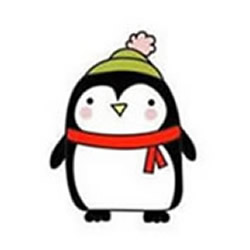 How to Draw a Penguin Wearing a Hat and Scarf Step by Step for