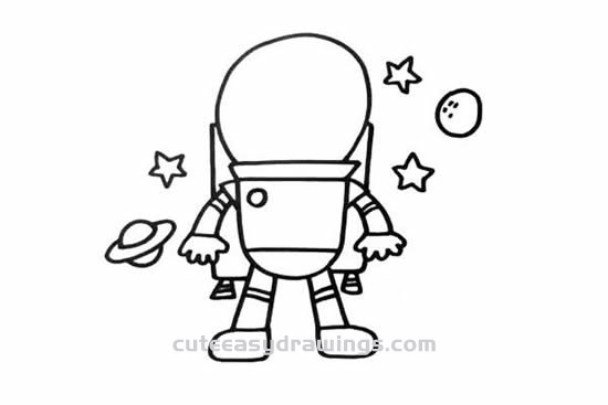 How to Draw a Cool Astronaut Step by Step for Kids