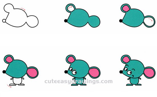 How to Draw a Naughty Cartoon Mouse Step by Step for Kids