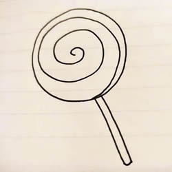 How to Draw a Simple Lollipop Step by Step for Kids