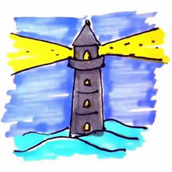 How to Draw a Lighthouse Step by Step for Kids