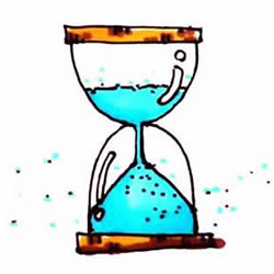 How to Draw an Old Hourglass Step by Step for Kids