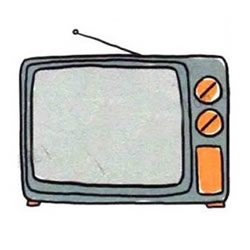 How to Draw an Old TV Step by Step for Kids