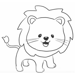 How to Draw a Cute Little Lion Step by Step for Kids