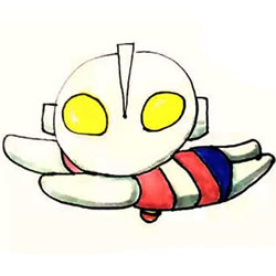 How to Draw a Flying Ultraman Step by Step for Kids