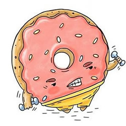 How to Draw a Funny Cartoon Donut Step by Step for Beginners