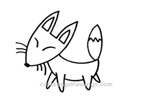 How To Draw A Sly Fox Step By Step For Kids Cute Easy Drawings
