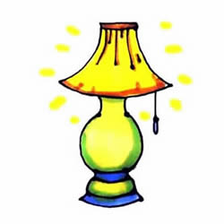 How to Draw a Table Lamp Step by Step for Kids