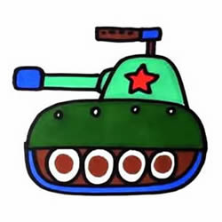 How to Draw a Cute Tank Step by Step for Kids
