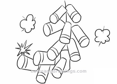 How to Draw Chinese New Year Firecrackers Step by Step for Beginners
