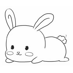 How to Draw a Rabbit Lying on the Ground Step by Step