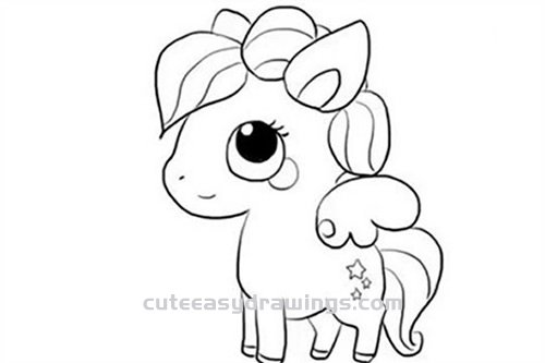 How to Draw a Pegasus in My Little Pony Step by Step for Kids