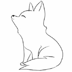 How to Draw a Fox Sitting Step by Step for Beginners