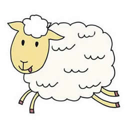 How to Draw a Running Sheep Step by Step for Kids