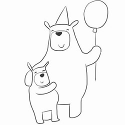 How to Draw a Birthday Bear Father Step by Step for Beginners