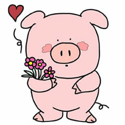 How to Draw a Pig for Valentine's Day Step by Step for Kids