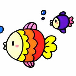 How to Draw Cute Fish Step by Step for Kids