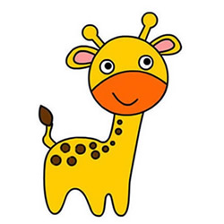 How to Draw a Cute Little Giraffe Step by Step for Kids