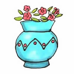 How to Draw an Elegant Vase Step by Step for Kids