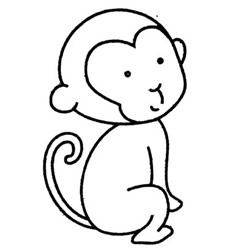 How to Draw a Cute Monkey Baby Step by Step for Kids