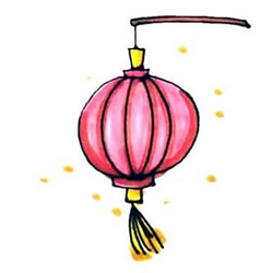 How to Draw a Chinese Red Lantern Step by Step for Kids