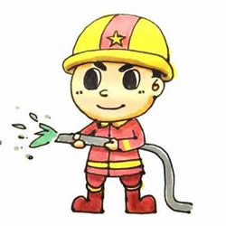 How to Draw a Brave Firefighter Step by Step for Kids