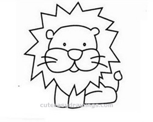 How to Draw a Baby Lion Step by Step for Kids