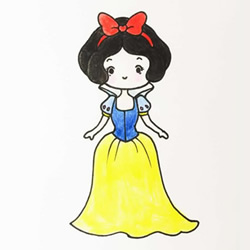 How to Draw a Colorful Snow White Step by Step for Kids