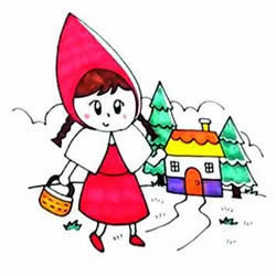 How to Draw Cartoon Little Red Riding Hood Step by Step for Kids