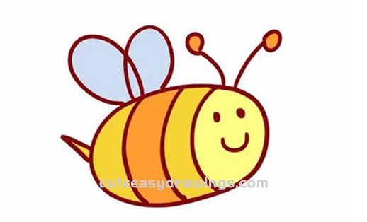 How to Draw a Cartoon Bee Step by Step for Kids