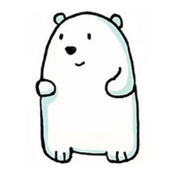 How to Draw a Polar Bear Baby Step by Step for Kids