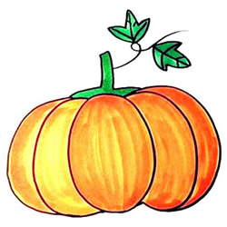 How to Draw a Colorful Big Pumpkin Step by Step for Kids