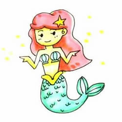 How to Draw a Funny Mermaid Step by Step for Kids
