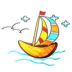 How to Draw a Colorful Sailboat Step by Step for Kids
