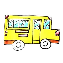 How to Simple Draw a School Bus Step by Step for Kids