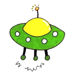 How to Draw a Cute UFO Step by Step for Kids