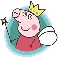 How to Draw the Fairy Princess Peppa Pig Step by Step for Kids