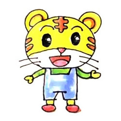 How to Draw a Cartoon Little Tiger Step by Step for Kids