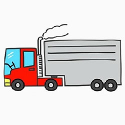 How to Draw a Big Truck Step by Step for Kids