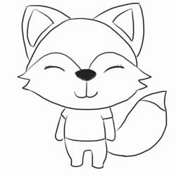 How to Draw a Friendly Cartoon Fox Step by Step for Kids