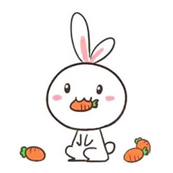 How to Draw a Rabbit Eating carrots Step by Step for Kids